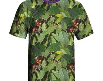 Coffee Print Eco-friendly T-shirt