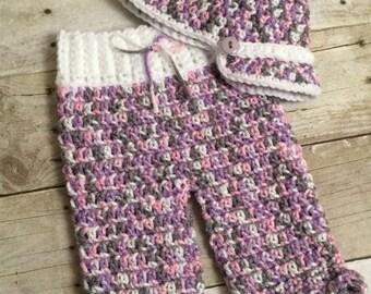 Girls Newsboy Hat Pants set