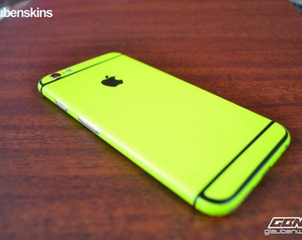 iphone 6 skin neon with black