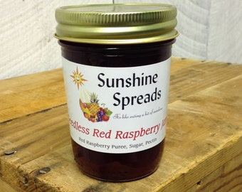 Seedless Red Raspberry Jam, 8 Ounce Jar, Amish Made