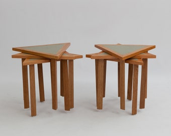 Mid-Century Stacking Tables - A Pair