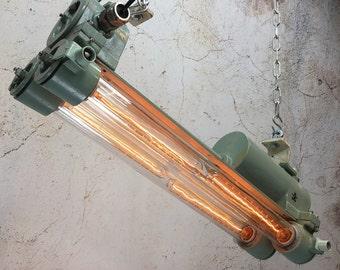 Vintage Industrial Pendant Light - Edison Flame Proof Strip Light
