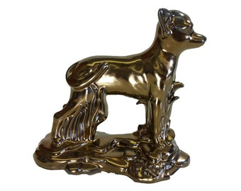 Glazed Chihuahua Figurine/Ceramic Cremation Urn.