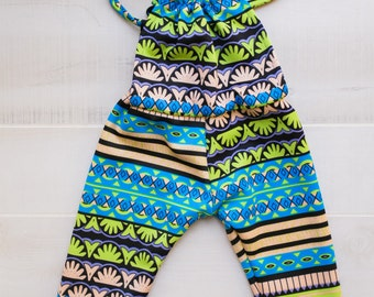 Colorful, Fun, Stretchy Infant Romper Ready Made