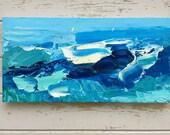 Ocean Painting on Canvas Ocean Wave Art Sea Painting Abstract Blue Modern Home Decor Abstract Ocean Waves Coastal Decor Living Bedroom