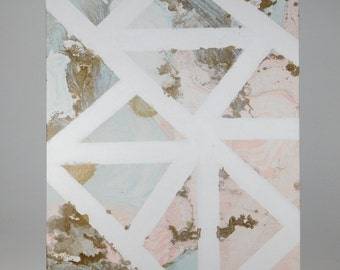 Abstract Marble Triangle Canvas
