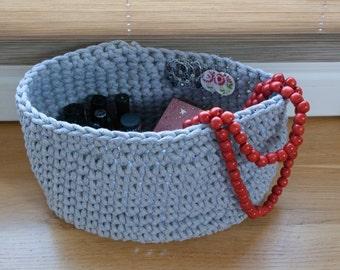 Crochet oval basket 42 colors