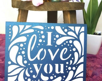 I love you card blank. Anniversary. Birthday. Valentine's Day. Mother's day. Father's day. Wedding