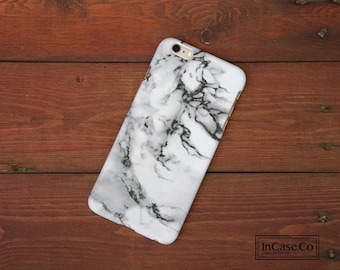 Marble Phone Case. White. For iPhone Case, Samsung Case, LG Case, Nokia Case, Blackberry Case and More!