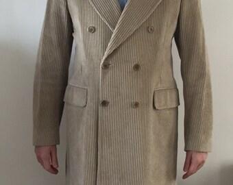 Vintage Mens Camel Corduroy Paul Smith Coat Size UK 40