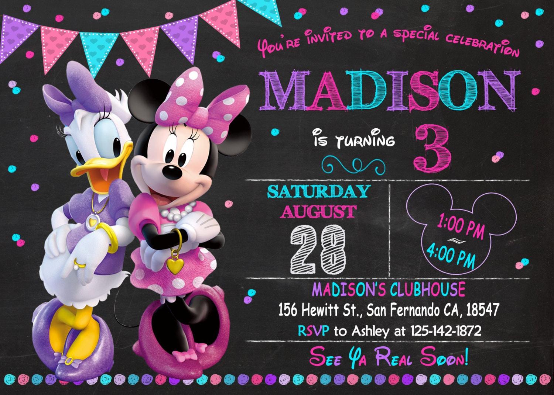 Minnie mouse and daisy invitation printable minnie mouse and - Minnie et daisy ...