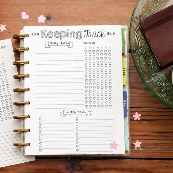 Happy Planner Calendar Refills : Keeping track happy planner printed refills create the