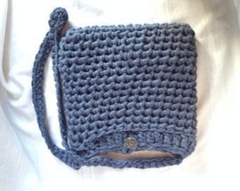 Denim Crochet sling bag