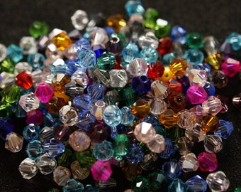 200 tops Crystal 4 mm BICONES
