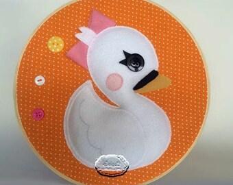 Lalaloopsy Swan Pet PDF Pattern, Felt Pattern, Plush Pattern