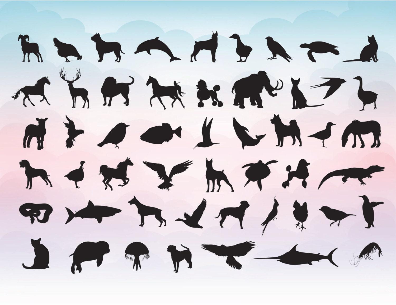 vector animal silhouette svg digital illustrator file instant