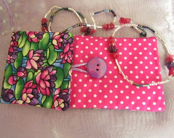 Glasses Case with Beaded Specs Holder