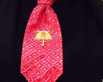Pink custom beaded tie
