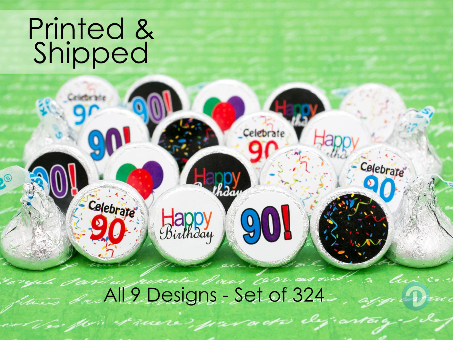 90th party favors 90th decorations 90th milestone hershey for 90th birthday decoration
