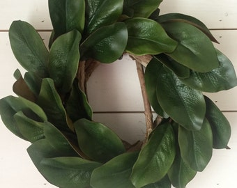 Magnolia Wreath, thick grapevine wreath, Christmas wreath, year round wreath, wall wreath, wall decor, magnolia, fixer upper decor, gift