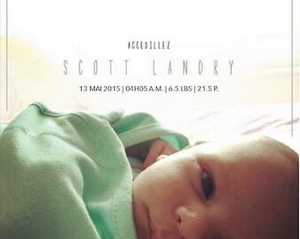 Listing for a newborn - baby keepsake