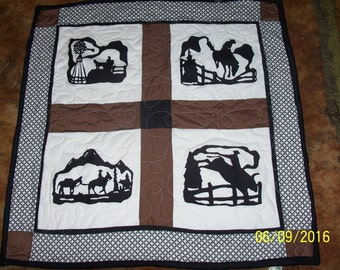 Western Quited Wall Hanging