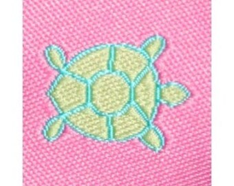 Hot Pink and Green Turtle Jacquard (04-078-VA-067)