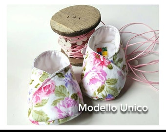 cotton kimono booties in floral design in shades of pink