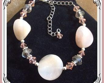 Crystal peach bracelet