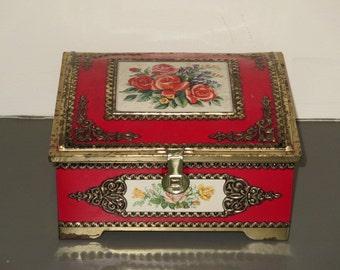 Red Rose Tin Box