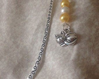 Enchanting cat dangle bookmark