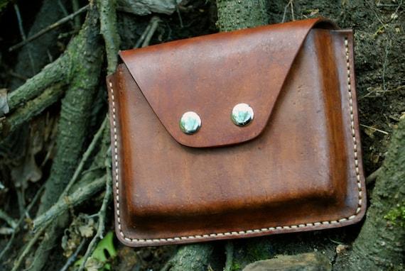 leather bushcraft survival belt pouch possibles bag utility