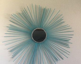 Hand made sunburst mirror