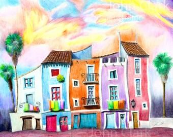 Spanish Village Sunset 3