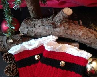 Crochet Christmas Boot Cuffs