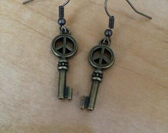 Keys to Peace Earrings