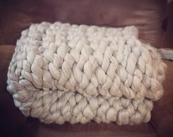 100% merino wool throw