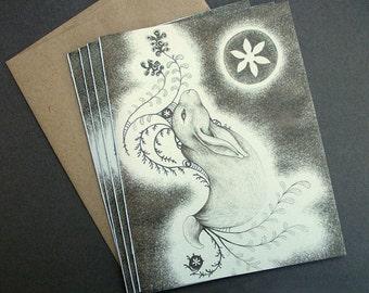 Medallion Rabbit Note Cards