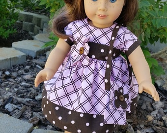 Doll Dress for American Girl, 18 inch doll, Bitty Baby or Bitty Twins