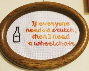 In Remission by the Menzingers Cross Stitch