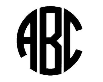 Circle Monogram SVG