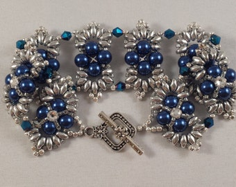 One of a kind Bracelet that shines like the  crown jewels.