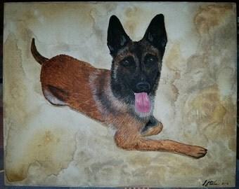 "Custom Pet Portrait- 8x10"""