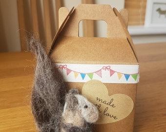 Tiny needle felted squirrel...handmade