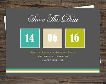 Calendar Personalised Save the Date