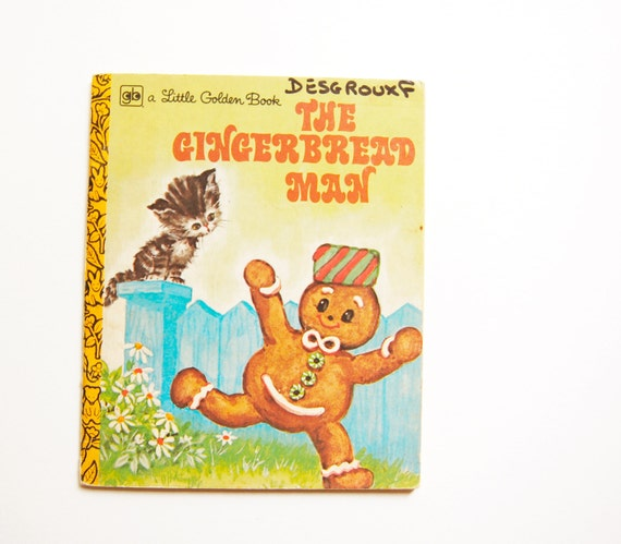 English Vintage Children's Book : The Gingerbread Man/ A