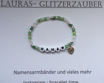 Customizable name bracelet mum - mother