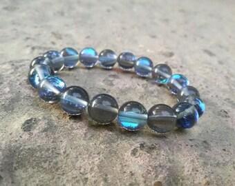 Vitality bracelet for men 10 mm BARITE Healing bracelet for woman Positive Energy bracelet  Meditation Native Americans spiritual bracelet