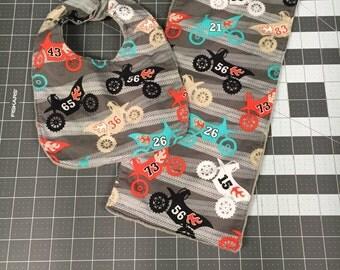 Bibs and burp cloth, motorcycles