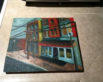 Downtown Wright Dunbar Original Oil Painting on Copper